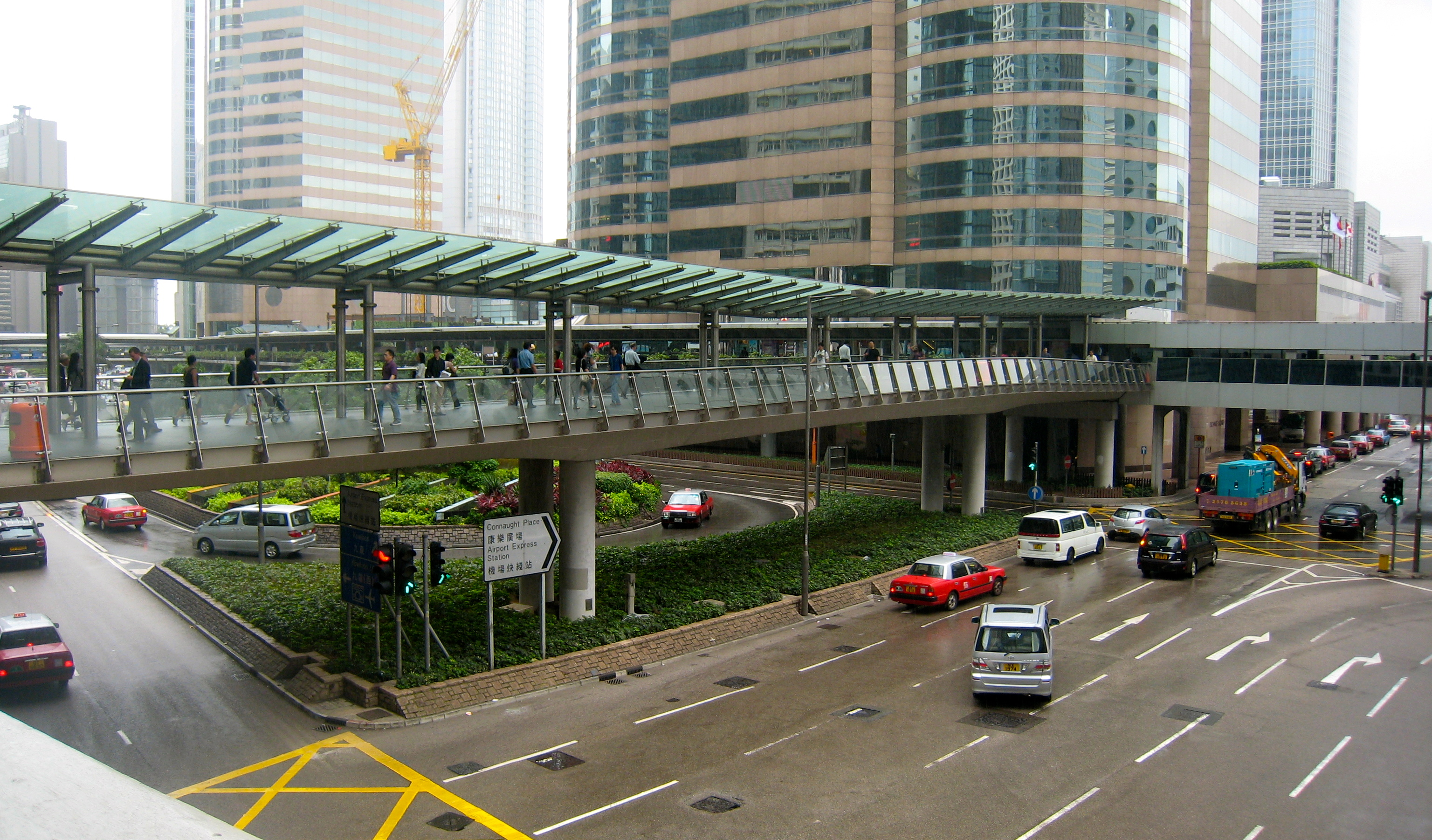 Hong Kong elevated walkways and pedestrian footbridges (Central)
